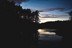 Marten Stream (yerica38) Tags: night nighttimewater reflection sunset nature scenic trees stream martinstream marten martenstream bluesky sky dramaticskyoutside outdoors landscape beautiful