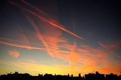 autumn sunrise (Ms. Bexy) Tags: sunrise sky urban england autumn