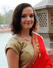Brooke at Ganga Concert (Scott RS) Tags: sari red india ganga concert ganges travel beautiful pretty gentle kind compassionate tender sweet soft hair eyes mouth necklace smile smirk gorgeous perceptive caring fun funny quiet canon canon6d 6d canon24105