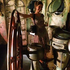 Jamie at the Frying Pan (olive witch) Tags: 2015 aug15 august boat fem indoors night nyc