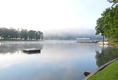 ~ Hazy  Summer Morn '..... (~ Cindy~) Tags: haze morning fog lake rockwoodtennessee
