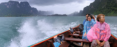 A wet boat trip to the remote northern tip of Khlong Long Lake (B℮n) Tags: thailand three rocks karst formations landmark เขาสก khao sok national park jungle oerbos wildlife south wild mammals mountains virgin oldest forest rainforest sandstone limestone mountain 950m monsoon rain erosion asian elephant tiger sambar deer bear guar banteng serow boar pigtailed macaque langur white handed gibbons squirrel boat man trip lake ratchaprapha dam klong long cheow lan clouds magic phutawan raft house resort kayak kayaking explore adventure greathornbill twilight dubbelhoornigeneushoornvogel hornbill wind 100faves topf100