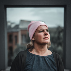 Framed (Sjaco Manuputty) Tags: portrait portraitphotography portraiture portret frame mhka museum person people woman female adidas beanie adidasbeanie sky roof rooftop antwerp antwerpen art contemporaryart