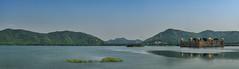 Jal Mahal Water Palace (seantindale) Tags: jalmahal palace lake mountains jaipur rajasthan india travel olympus omdem5markii