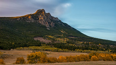Twin Sisters in Early Morning Light (RkyMtnGrl) Tags: landscape nature scenery vista valley mountains peaks aspens conifers morning light sunrise twinsisters estesvalley colorado 2018 nikon 28300mm