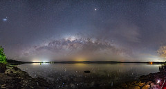 The sky over Swan Lake (nightscapades) Tags: astronomy astrophotography autopanopro cudmirrah galacticcore milkyway night nightscapes nowra panorama panos shoalhaven sky southcoastnsw stars stitch swanlake swanhaven newsouthwales australia