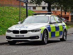 West Midlands Police BMW 330d Driver Training Unit, BX18 GVR (LD35), Birmingham City Centre. (Vinnyman1) Tags: west midlands police bmw 330d driver training unit dtu bx18 gvr ld35 learning development ld birmingham city centre wmp emergency services service rescue 999 england uk united kingdom gb great britain operation pelkin prime minister conservative party conference tory tories 2018