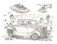 GMPR (rod1691) Tags: myart art sketchbook bw scfi grey concept custom car retro space hotrod drawing pencil h2 hb original story fantasy funny tale automotive illustration greyscale moonpies sketch sexy voodoo