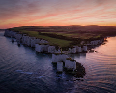 Old Harry Rocks (Andrew G Robertson) Tags: jurassic coast drone old harry rocks studland dorset england dji mavic pro 2 mavic2 sunset