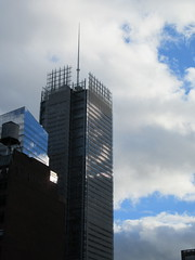 2018 October Cloud Strewn Sky Reflection NYC 2597 (Brechtbug) Tags: 2018 october cloud strewn sky nyc virtual clock tower from hells kitchen clinton near times square broadway new york city midtown manhattan stormy weather building no hanging cumulonimbus blue cumulus nimbus fall hell s nemo southern view ny1 10132018