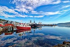 Norwegen - Tromsø, Hafen (www.nbfotos.de) Tags: norwegen norge norway tromsø tromsö hafen schiff ship boat reflexion reflection spiegelung