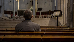 Into the church (Vitorlandophotographs) Tags: church pray fidelity peace portrait man human bari southeritaly italy religion spirituality