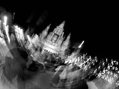 Dhaka Street #198 Durga (سلطان محمود) Tags: dhaka dhakastreet999 bangladesh yi action camera baby banani mipur during festival durgapuja bnw blackwhite color mobilephotography monochrome wide sky temple man trail lowlight night outdoor light