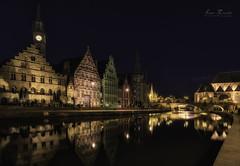 Rio Lys (Luis R.C.) Tags: lys gante bélgica nocturnas paisajes urbanas edificios rio viajes nikon d610