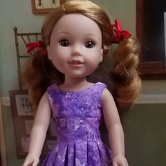 #welliewishers Willa in #Ellie'sStyle Amalie Dress 8n purple (sewdolledup_by_emg) Tags: welliewishers ellie