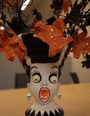 orange scream (annapolis_rose) Tags: halloween vase orange flickrfriday