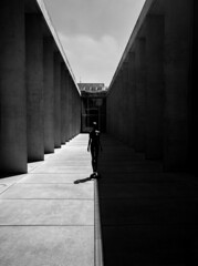 Light & Dark (MAKER Photography) Tags: monochrome bw black white single colour color greyscale mobile smartphone phone oneplus 3 museum egyptian munich germany statue pillar stone concrete sky clouds window glass house shadow light dark bright