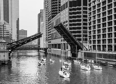 Spring Bridge Lift (Jim Frazier) Tags: chicagoriver 2018 20180519bridgelift 3d3layer bw architectural architecture art bascule blackandwhite boatrun boats bridgelift bridgerun bridges buildings canyons chicago chicagoriverbridges city cityscape civilization cloudy concrete crossings desaturated downtown drawbridge equipment fiberglass fixedtrunnion glass il illinois infrastructure jimfraziercom landscape leadinglines loop machinery machines marine maritime may monochrome monroestreetbridge nautical pod q4 river sailboats scenery scenic ships spans spring steel structures transportation trunnion urban vanishingpoint water yachts f10 fastpictures toinstagram facebook