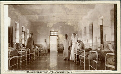 Patients at the War Hospital, Alexandria, Egypt - WW1 (Aussie~mobs) Tags: ww1 alexandria warhospital patients nurses ward wounded soldiers egypt