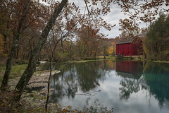 The Mill at Alley Spring (Notley Hawkins) Tags: httpwwwnotleyhawkinscom notleyhawkinsphotography notley notleyhawkins 10thavenue 2018 water shannoncountymissouri landscape rural ozarknationalscenicriverways ozark ozarks alleymill alleyspring trees forest tree statepark fall autumn outdoors reflect reflection november spring