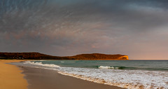 Sunlit headland (Rod Burgess) Tags: nsw southdurras newsouthwales australia au panorama canoneos5dmarkiv canon2470f4l sunset pointupright clouds