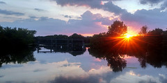 last few rays (DeZ - photolores) Tags: royalcitypark guelphcanada sunset reflection clouds trees hdr lg5 dez