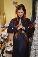 Getting centered (radargeek) Tags: prairierebellion fashion fashionshow 2018 february houseparty roundabout okc oklahomacity meditate prayer dress portrait