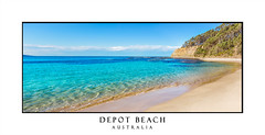 Depot Beach Panorama (sugarbellaleah) Tags: beach sand panorama depotbeach australia idyllic paradise aeaside southcoast nsw bushland waves ripples clear water ocean seashore colour vivid pretty holiday resort vacation sensational blue sky swim leisure recreation