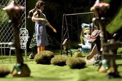 Paprihaven 1450 (MayorPaprika) Tags: 112 custom diorama toy story paprihaven action figure set canoneosrebelt6i macro efs60mmf28macrousm mego dorothy wizardofoz aliceinwonderland garden pullip junplanning