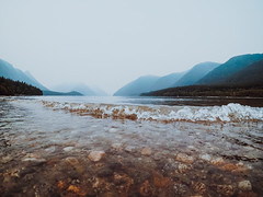Hazy Mountains (Top KM) Tags: landscape outdoors outdoor outside no person nobody mountains water canada british columbia fog foggy smoke smoky surf wave beautiful nature haze hazy lake 500px moody silhouette mountain range gopro bc scenic pnw standing