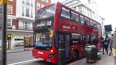 P1130698 VMH2496 LK18 AKF at Baker Street Station Baker Street Marylebone London (LJ61 GXN (was LK60 HPJ)) Tags: volvob5lhybrid mcvevoseti mcv evoseti metroline 105m 10490mm vmh2496 lk18akf nb881