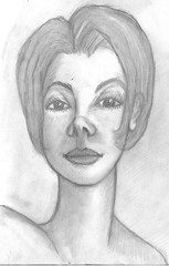 full frontal face (DREADNOUGHT2003) Tags: pencil doodle chalk paints drawings art sketch