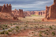 Arches Vista (Michael Riffle) Tags: arches archesnationalpark nationalpark storm cloudy day desert highdesert autumn fall 2018 redrock outdoors landscape