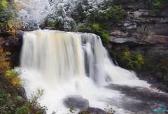 Blackwater fall WV (die Augen) Tags: waterfall west virginia canon sl2 snow rocks trees silky