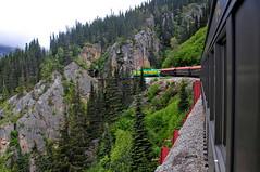 White Pass & Yukon Railroad (Infinity & Beyond Photography: Kev Cook) Tags: white pass yukon railroad railway train alaska mountain mountainside firtrees evergreens