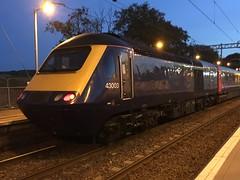 ScotRail HST (Powercar 43003) - Cumbernauld (saulokanerailwayphotography) Tags: hst scotrail 43003 class43
