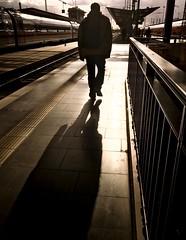 Shadow (tfading) Tags: hauptbahnhof frankfurt street urban shadow