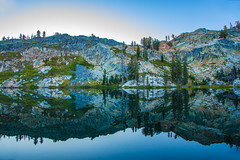 BareIslandLake2Sept2-18 (divindk) Tags: bareislandlake california maderacounty sierranationalforest backpacking camping granite lake quiet reflection serene sunlight sunrise