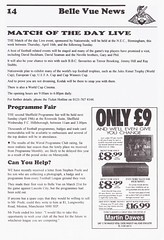 Doncaster Rovers vs Notts County - 1998 - Page 14 (The Sky Strikers) Tags: doncaster rovers notts county football league division three belle vue official programme one pound