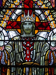 Christ in Majesty (Aidan McRae Thomson) Tags: leicester church leicestershire stainedglass window artscrafts karlparsons