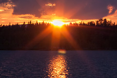 IMG_5089-1 (Andre56154) Tags: schweden sweden sverige see lake wasser water landschaft landscape sonne sun sonnenuntergang sunset himmel sky wolke cloud dämmerung