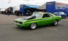 Cuda_2993 (Fast an' Bulbous) Tags: car vehicle automobile drag race track strip fast speed power acceleration pits motorsport racecar santapod outdoor nikon