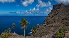 Embarcadero de Taguluche (Jörg Bergmann) Tags: 20mmf17 8k islascanarias lagomera panasonic20mmf17 pescante uhd2 canarias canaryislands cliffs clouds coast embarcadero españa gf7 gomera hiking landscape lumix lumix20mm m43 mft micro43 microfourthirds nature ocean panasonic rocks sea seascape senderismo spain stitched travel vacation wallpaper wandern μ43 2018 autumn fall september caminar otoño herbst water
