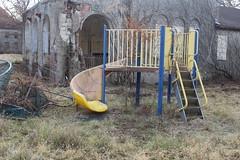 IMG_4613 (watchfuleyephoto) Tags: playground empty swings rockland state hospital psychiatric children horror scary creepy abandoned toys urbex