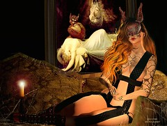 Come to my Haunted House (SLRedFire) Tags: haunted house second sl secondlifephotos secondlifepictures slpictures horror scary ghost woman beautiful pretty gorgeous female redhead secondlifephotographs secondlifephotography