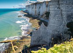 Etretat - Porte d'Amont (vegard.magnus) Tags: mer océan normandie normandy étretat plage falaise cliff beach landscape seascape paysage em5 em5markii 43 four third micro