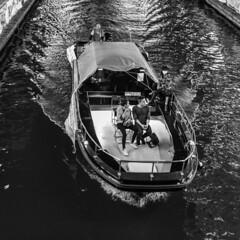 boat (Hideki-I) Tags: bw square nikon d850 2470 blackandwhite 白黒 river water