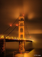 San Francisco Night (pandt) Tags: goldengate bridge night sanfrancisco bay water ocean longexposure fog lights mist outdoor california coast coastal canon rebel t1i slr sky sea