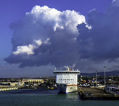 Clouded ferry (Tony Tomlin) Tags: civitavecchia italy mediterranean europe ferryport ferry clouds