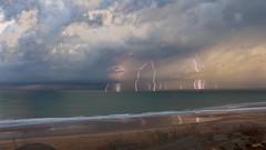 Storm / Tormenta, Bahía de Cádiz (José Rambaud) Tags: storm stormy tormenta rain lluvia autumn otoño rayo lightning clouds cloudscape cloudy cloud nubes nube sea mar bahiadecádiz cádiz andalucía weather